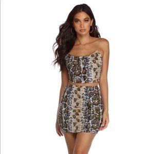 Windsor Snake Skin Skirt Set